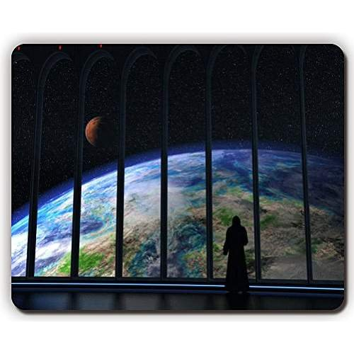 high quality mouse pad,ship kind earth planet silhouette,Game Office MousePad size:260x210x3mm(10.2x 8.2inch)