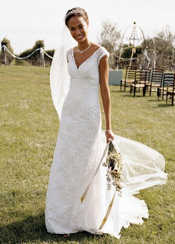 David's Bridal Wedding Dress: Petite All Over