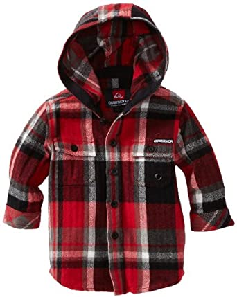 Quiksilver Baby-boys Infant Four Shore Long Sleeve, Red, 6-9 Months