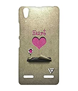 Vogueshell Heart Paper Printed Symmetry PRO Series Hard Back Case for Lenovo A6000