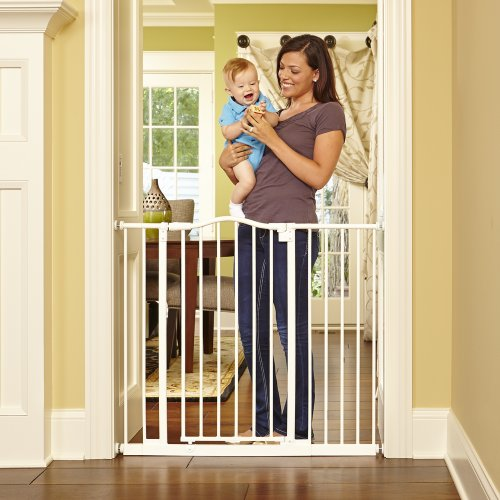 North States Industries Supergate Tall and Wide Portico Arch Gate, Linen