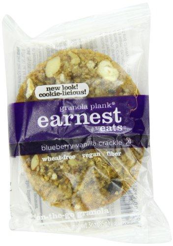 Earnest Eats Vegan Granola Planks High In Fiber, Omega-3S And Protein - Blueberry Vanilla Crackle - (Case Of 6 - 3 Oz)