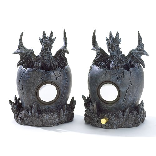 Black Dragon Computer Speakers Medieval Collectible
