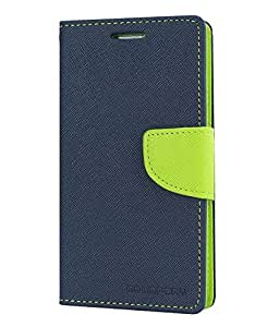 KIMOBH DAIRY FLIP COVER FOR MICROMAX A116 CANVAS HD (BLUE GREEN)