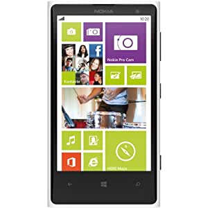 "Nokia Lumia 1020 RM-875 32GB Unlocked GSM Phone w/ 41MP Camera 4.5"" - White - International Version No Warranty"