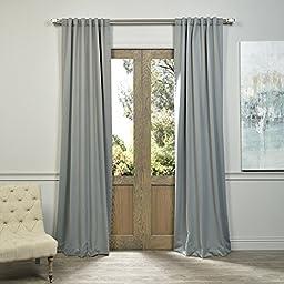 Half Price Drapes BOCH-174402-120 Blackout Curtain, Neutral Grey