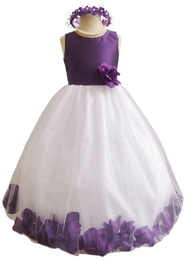 Classykidzshop Purple Rose Petals Special Occasion Dress