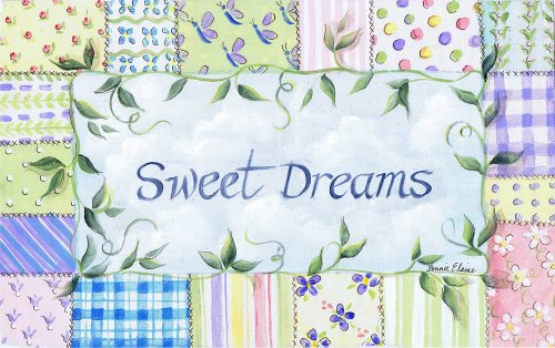 The Kids Room by Stupell Sweet Dreams with Patchwork Border Rectangle Wall Plaque
