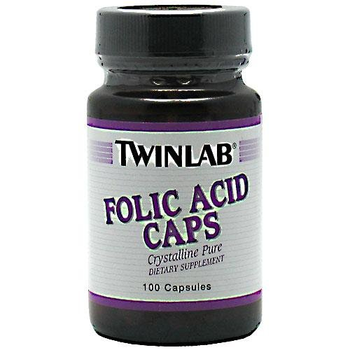 TWINLAB, Folic Acid 800mcg - 100 caps