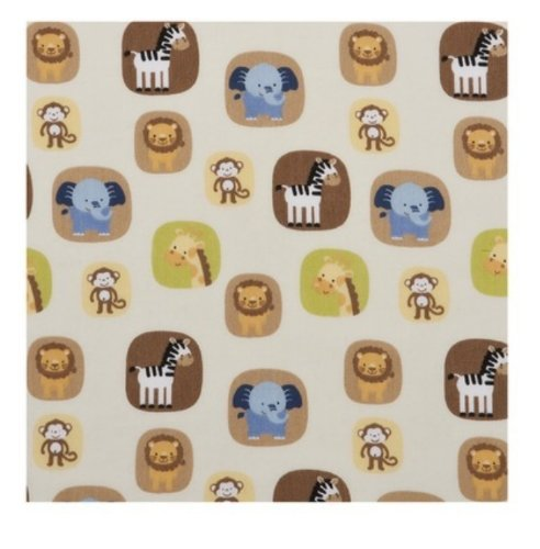 Tiddliwinks Safari Friends Fitted Sheet - 1