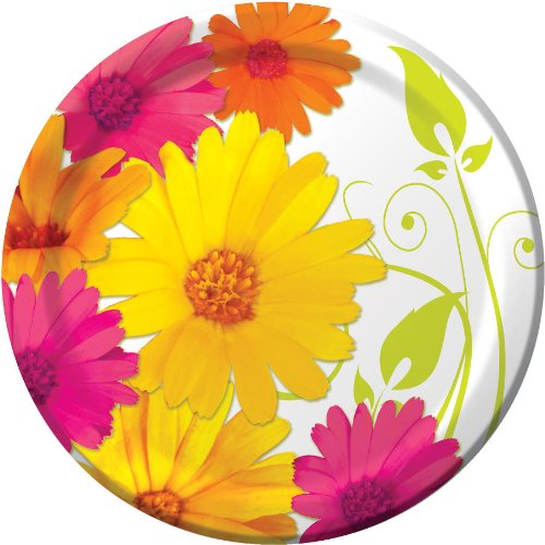 Daisy Scroll Dinner Plates