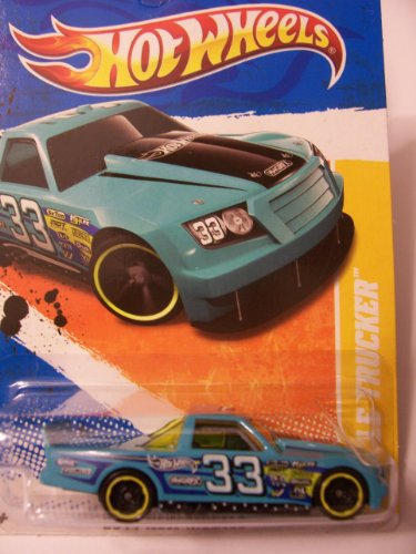 Hot Wheels 2011 Circle Trucker New Models 46 of 50 #33 Teal Blue - 1