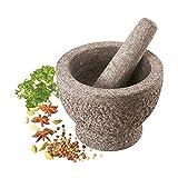 XXL Mörser 18 cm mit Stößel aus Granit ca. 5,5 kg kg schwer Pesto
