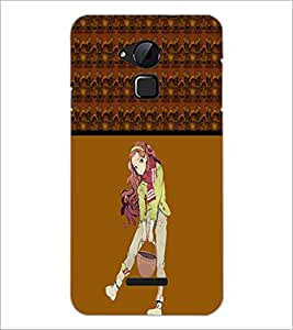 PrintDhaba Cute Girl D-4274 Back Case Cover for COOLPAD NOTE 3 LITE (Multi-Coloured)