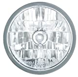 "Adjure T70100 Clear Lens 7"" Diamond Cut Ice Motorcycle Headlight with H4 Bulb"