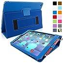 Snugg™ - Étui Pour iPad Air (iPad 5) - Smart Case Avec Support Pied Et Une Garantie à Vie (En Cuir Bleu) Pour Apple iPad Air
