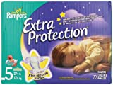 Pampers Extra Protection Diapers Size 5 Super Pack 72 Count