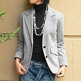 劇的美人テーラードジャケット♪ 本格仕立てでシワになりにくい厚手ポンチ生地使用!
