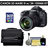 Canon 5D Mark III With 24-105mm Lens (Black) Value Kit