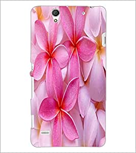 PrintDhaba Flower D-2446 Back Case Cover for SONY XPERIA C4 (Multi-Coloured)