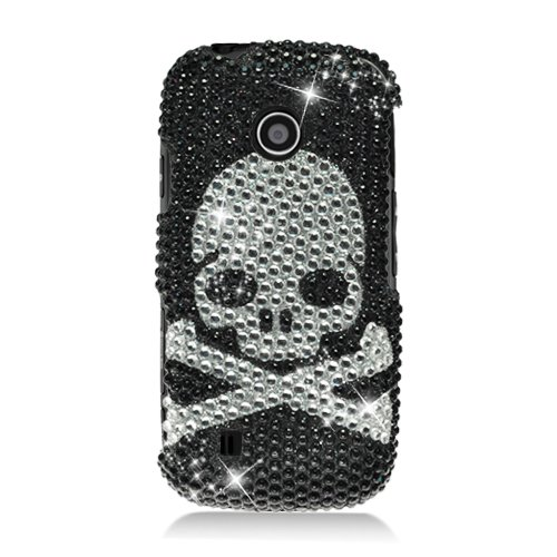 Cell Accessories For Less (Tm) Lg Beacon Un270/Mn270/Vn270 Cosmos Touch Full Cs Diamond Caseskull 327 - By Thetargetbuys