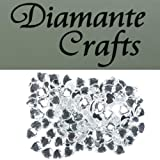 150 x 10mm Clear Diamante Hearts Loose Flat Back Rhinestone Craft Gems - created exclusively for Diamante Crafts
