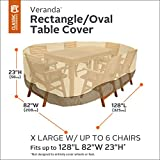 Classic Accessories Veranda Patio Table & Chair Set Cover - Rectangular/Oval, XL