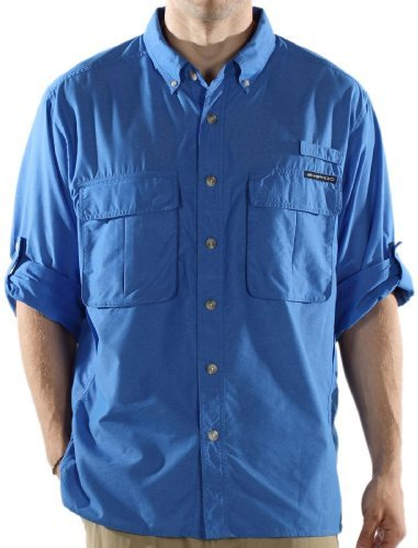 ExOfficio Men's Air Strip Lite Long Sleeve Shirt,Cobalt,Medium