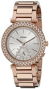 Fossil Women's ES3851 Urban traveler Analog Display Analog Quartz Rose Gold Watch