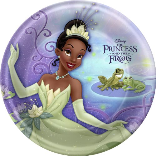 Princess and the Frog Large Paper Plates (8ct) (Tiana Party Supplies compare prices)