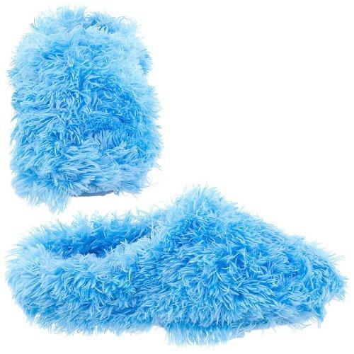 Cheap Blue Clog Fuzzy Slippers for Women (B004Z25CLQ)