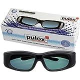 Lunettes à obturateur 3D - 3D UNIVERSAL lunettes actives 3D DE PULOX - NOUVEAU: avec émetteur infrarouge et Bluetooth pour 3D HDTV + Lecteur Blu-ray AVEC AUTO-SYNC FONCTION (S'IL VOUS PLAÎT NOTE COMPATIBILITÉ DESCRIPTION DU PRODUIT EN VUE)