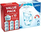 Brita Elemaris Cool Value Pack includes 10 Cartridges, White