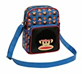 Paul Frank Julius Monkey Crossbody Flight Shoulder Bag - Afro Basketballer - Black Blue