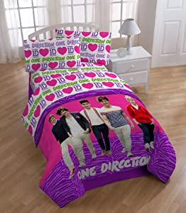 One Direction's Beautiful Sheet Set, Twin from Jay Franco and Sons, Inc.