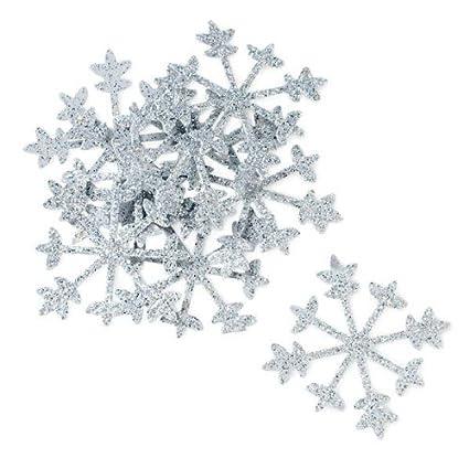 Sparkling Silver Snowflakes