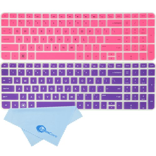 Leencore® 2-Pack Ultra Thin Translucent Silicone Laptop Keyboard Skin Cover Protector For Hp Pavilion Dv6-6118Nr Dv6-6158Nr Dv6-6152Nr Dv6-6170Us Dv6-6C10Us Dv6-6C40Us Dv6-6C54Nr Dv6-6137Tx Dv6-6B51Ea Dv6-6180Us Dv6-6B21He Dv6-6B13Tx Dv6-6138Nr Dv6-6B27Nr