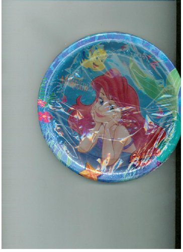 "Ariel and Friends 7"" Dessert Plates - 8 Count"