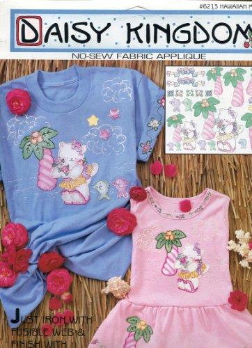 Daisy Kingdom No-Sew Fabric Applique ~ Hawaiian Meow
