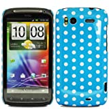 Polka Dots - Hard Mobile Phone Case Cover For HTC Sensation XE G18 / Blue