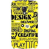 For Samsung Galaxy S3 Mini I8190 :: Samsung I8190 Galaxy S III Mini :: Samsung I8190N Galaxy S III Mini Word Pattern ( Word Pattern, Design, Thinking, Good Quotes, Yellow Background ) Printed Designer Back Case Cover By FashionCops