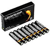 AAA Extra Value 8 Pack - Super High Power Alkaline Batteries by 7dayshop. Supplied in Easy Store Eco-Pack. AAA size is also known as MN2400 and LR03