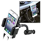 eForcity All-In-1 FM Transmitter with 3.5mm Audio Cable for iPod touch 5G (Black)