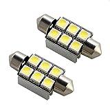 メルセデス・ベンツ W203 Cクラスセダン 抵抗付 LED ライセンス ランプ ナンバー 警告灯キャンセラー付 T10×36mm 2個セット 37mm兼用 ルームランプ 室内灯 等にも HJO