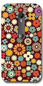 SEI HEI KI Designer Back Cover For Motorola Moto G3 - Multicolor
