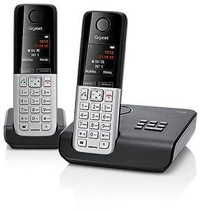 Gigaset C300A Duo Dect-Schnurlostelefon mit Anrufbeantworter, incl. 1 zusätzlichen Mobilteil, schwarz