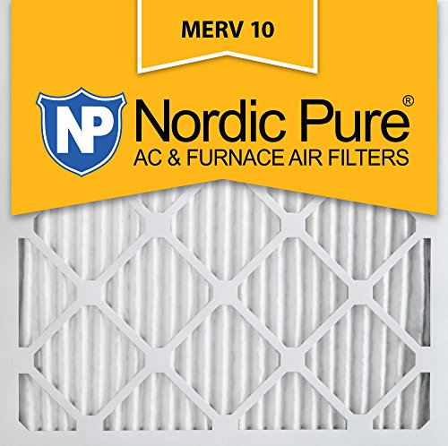 Nordic Pure 24x24x1 MERV 10 Pleated AC Furnace Air Filter,  Box of 6 (Air Conditioner Filters 24x24x1 compare prices)