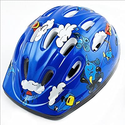 Kids' Boys' Children Bicycle Cycle Bike Helmet Blue 52-56 cm by Relaxdays