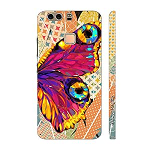 Enthopia Designer Hardshell Case Butterfly on a Feathery Wall Back Cover for Huawei P9 Plus