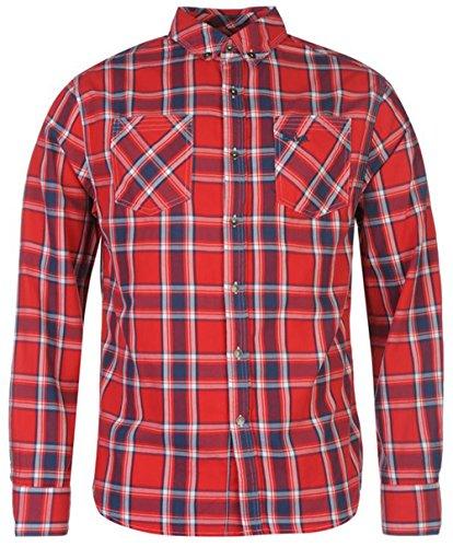 Lee Cooper -  Camicia Casual  - Uomo Red Small